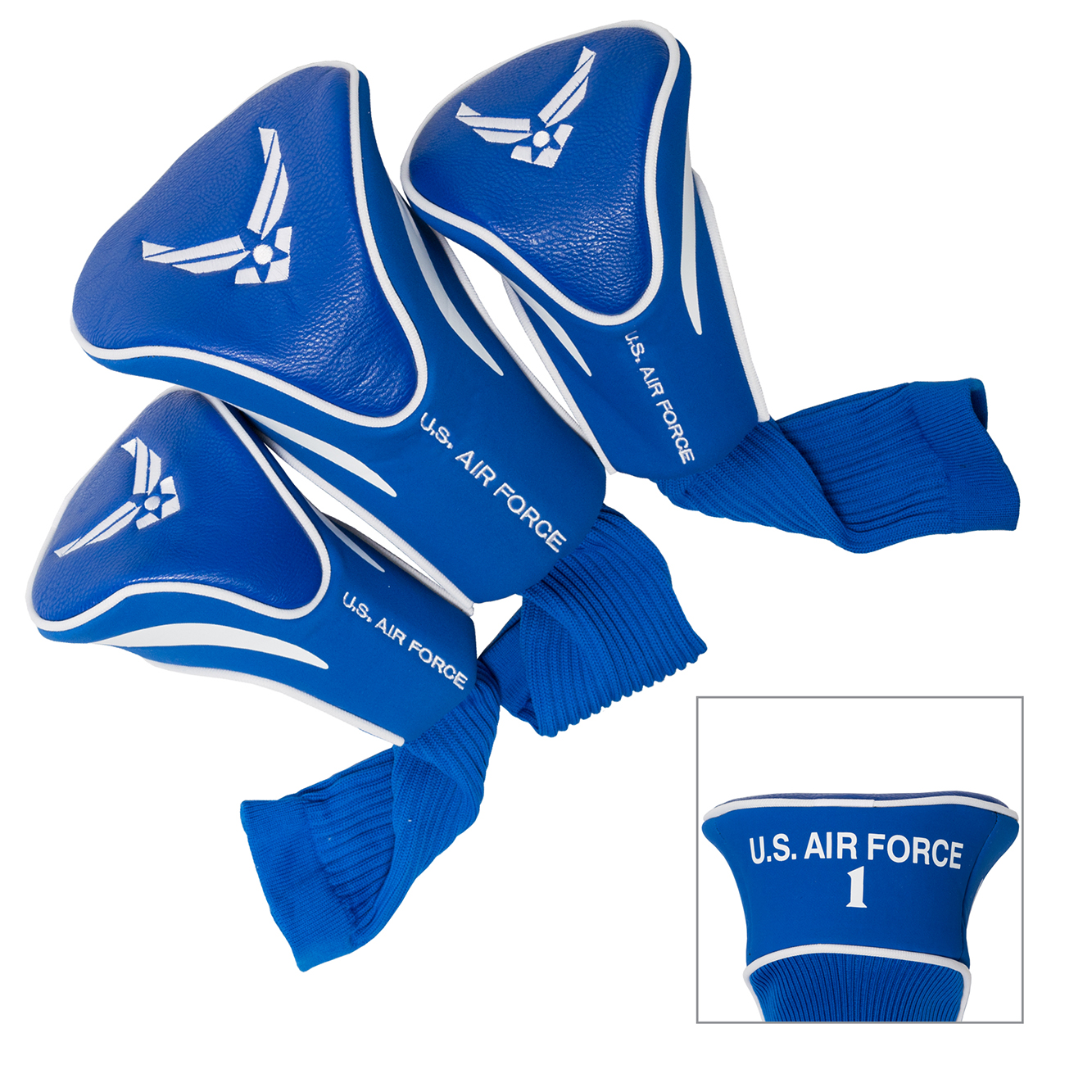 US Air Force 3 Pack Golf Contour Sock Head Covers