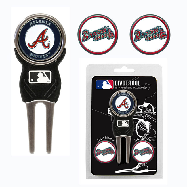 Atlanta Braves Golf Divot Tool Pack