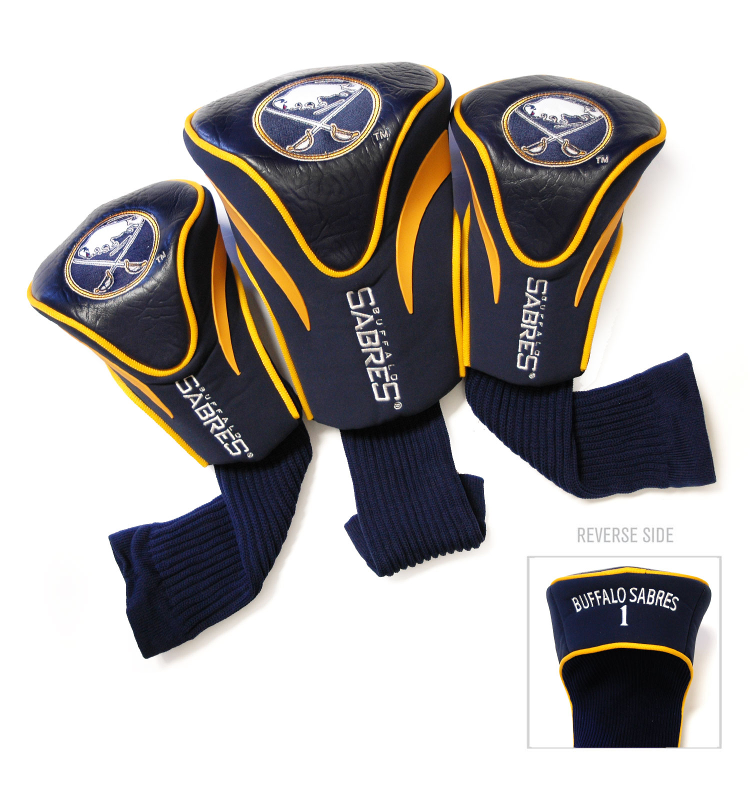 Buffalo Sabres 3 Pack Golf Contour Sock Headcovers