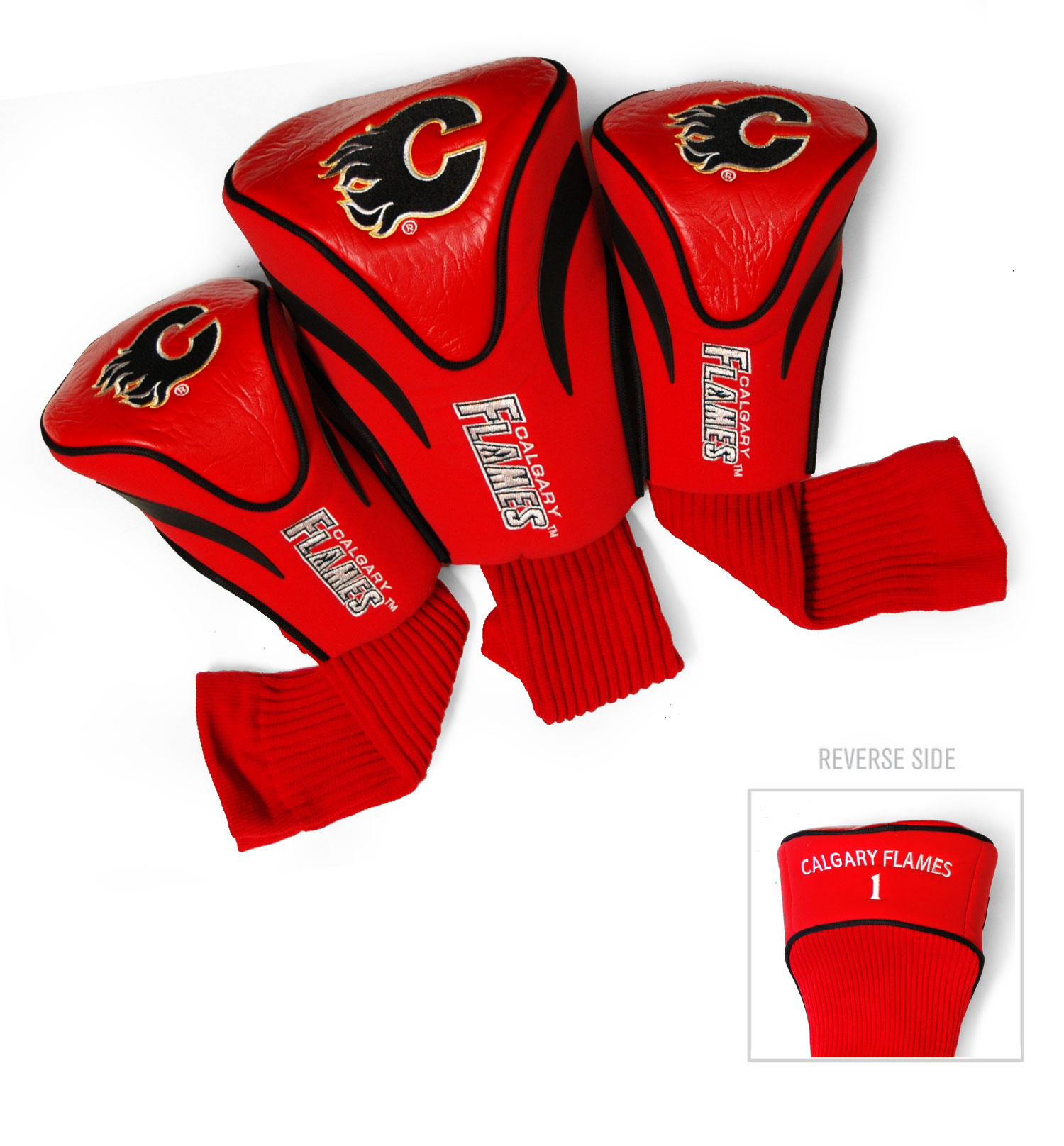 Calgary Flames 3 Pack Golf Contour Sock Headcovers