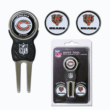 Chicago Bears Golf Divot Tool and Marker Gift Set