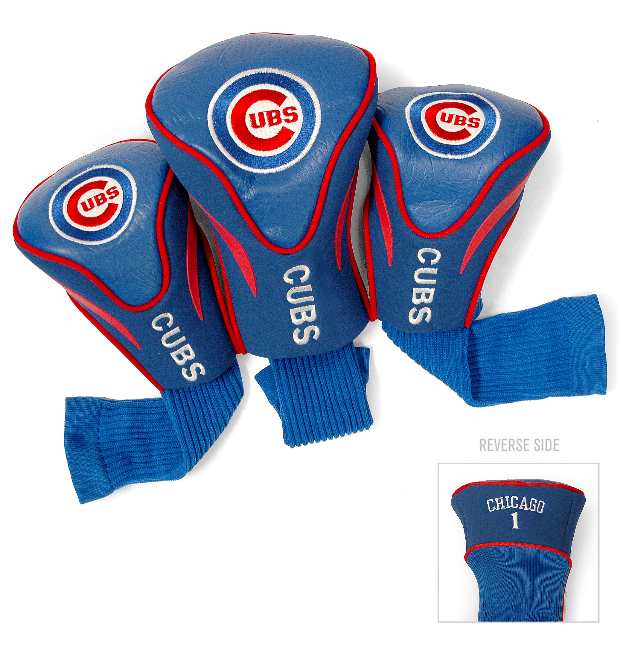 Chicago Cubs 3 Pk Golf Contour Sock Headcovers