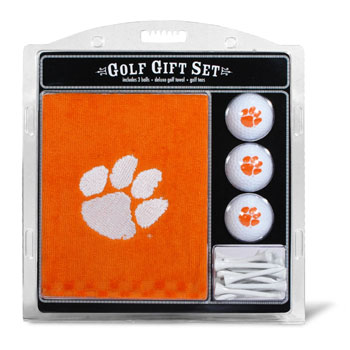 Clemson Tigers Embroidered Towel, Ball and Tee Gift Set