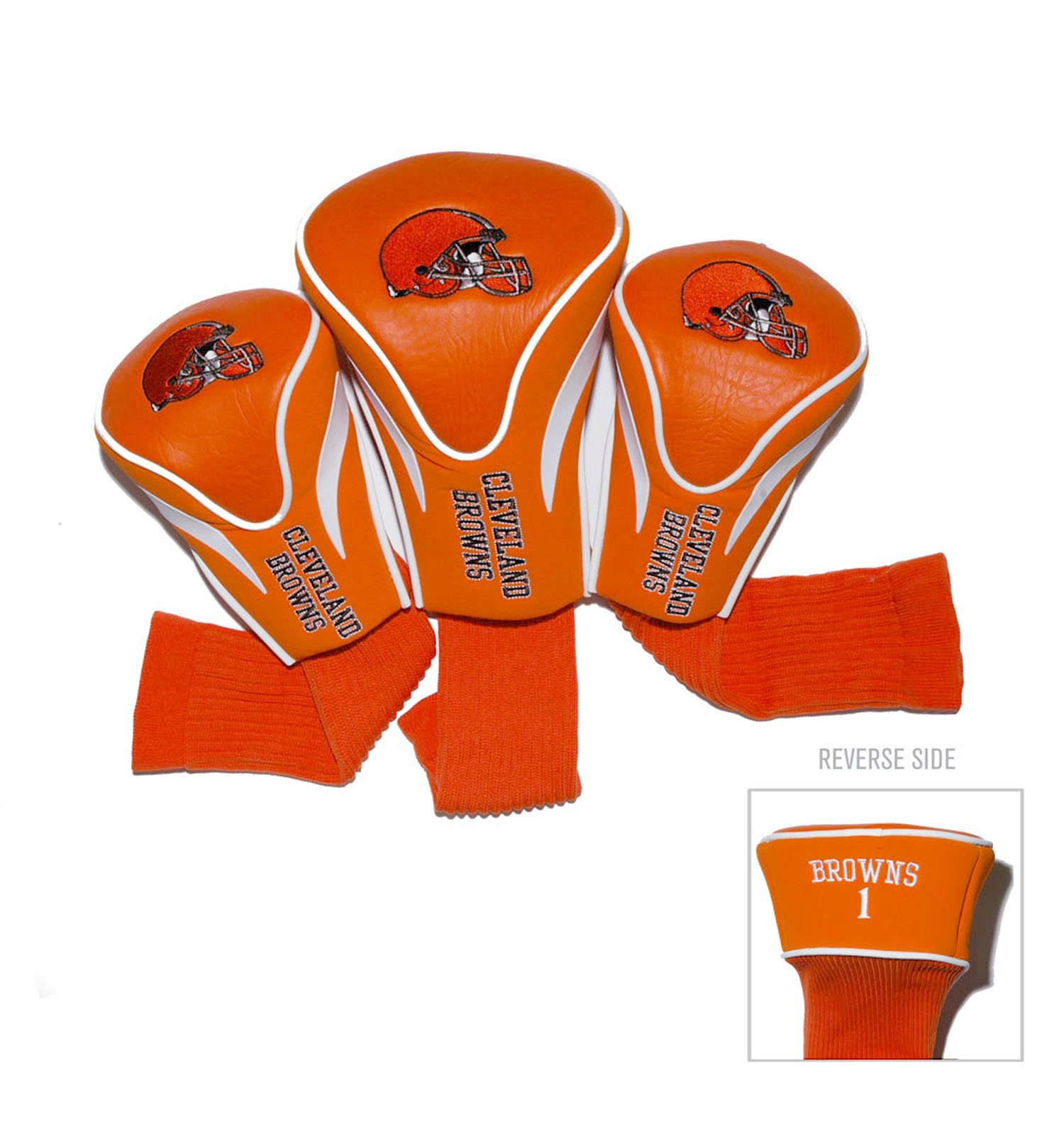 Cleveland Browns 3 Pack Golf Contour Sock Head Covers