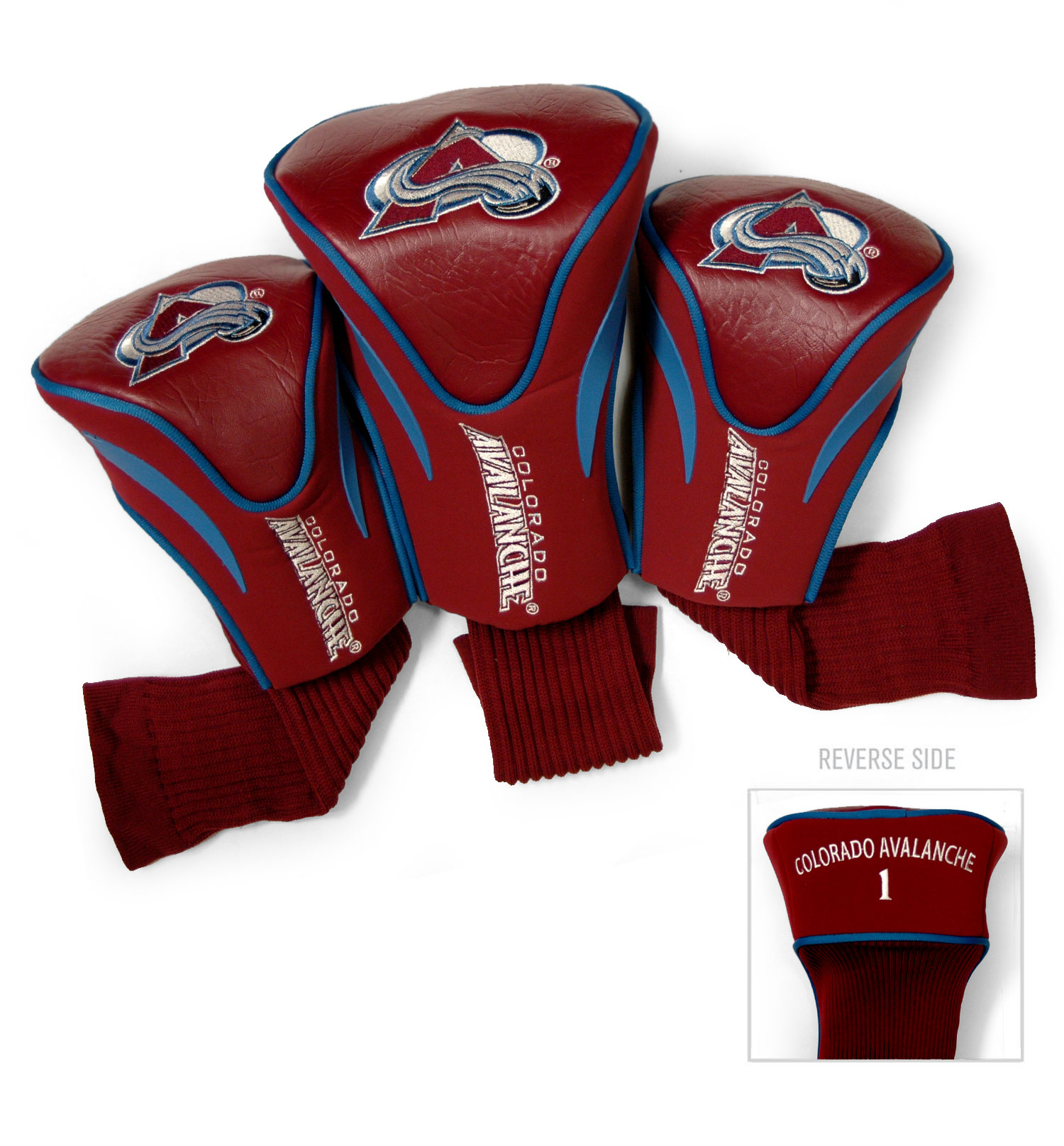 Colorado Avalanche 3 Pack Golf Contour Sock Headcovers