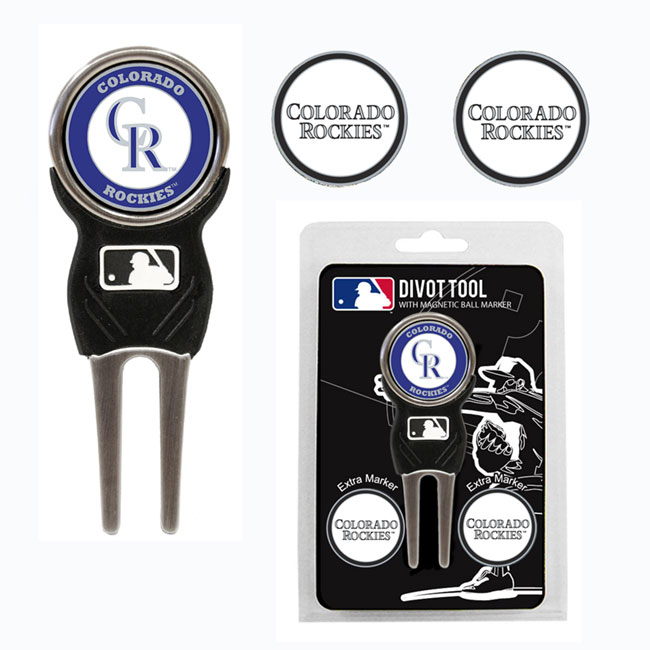 Colorado Rockies Golf Divot Tool Pack