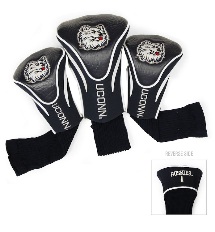 Connecticut Huskies Huskies 3 Pk Contour Golf Head Covers