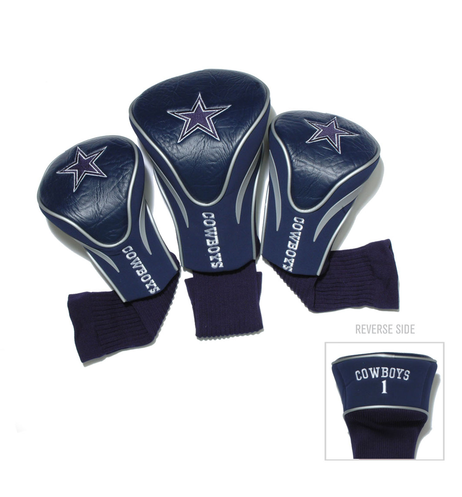 Dallas Cowboys 3 Pack Golf Contour Sock Head Covers