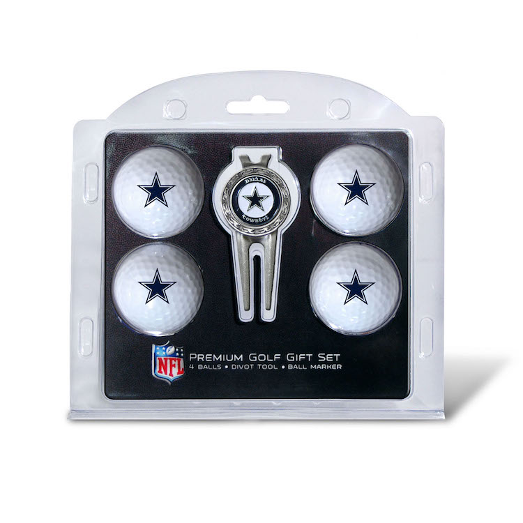 Dallas Cowboys 4 Golf Ball and Divot Tool Gift Set