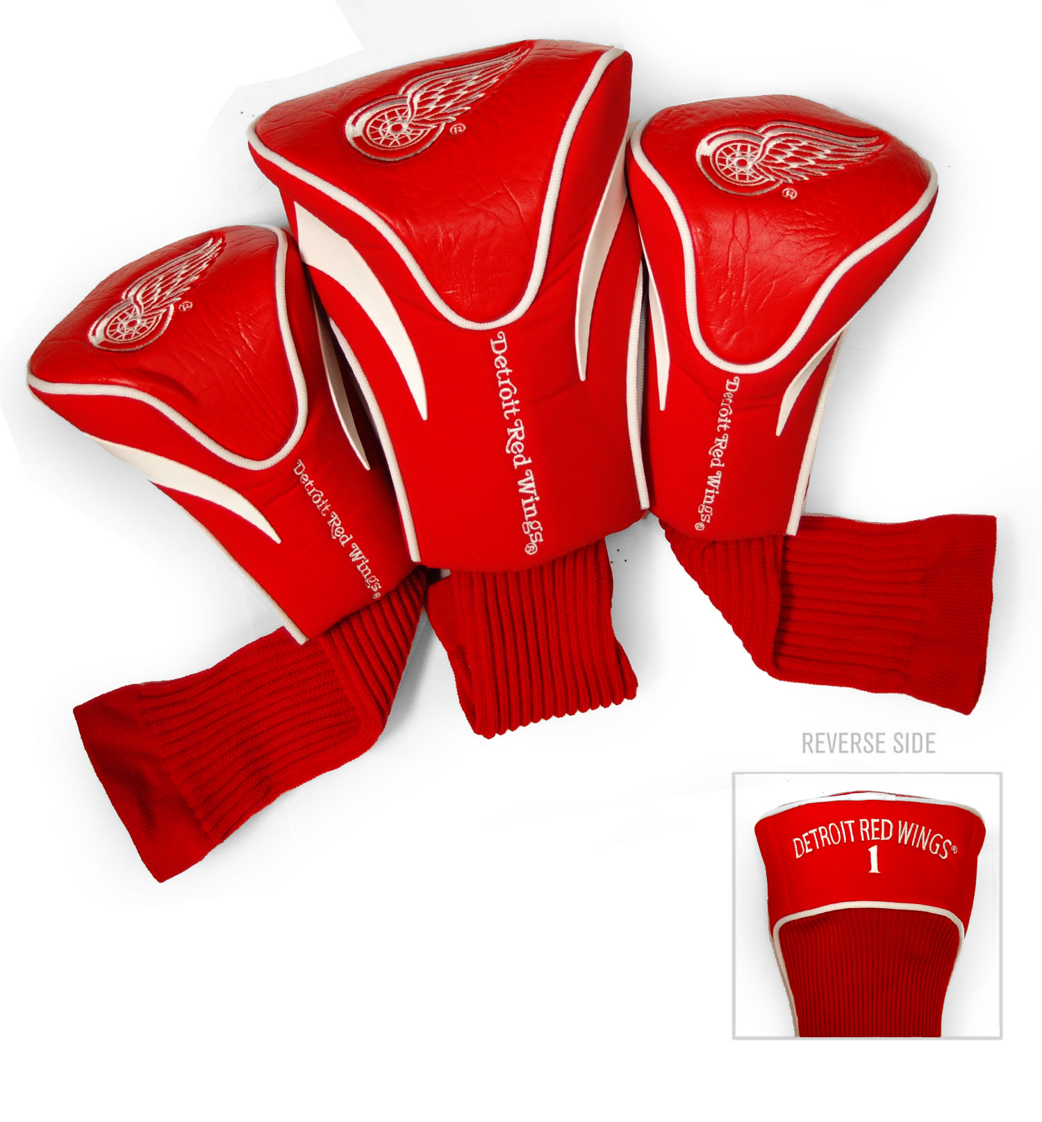 Detroit Red Wings 3 Pack Golf Contour Sock Headcovers