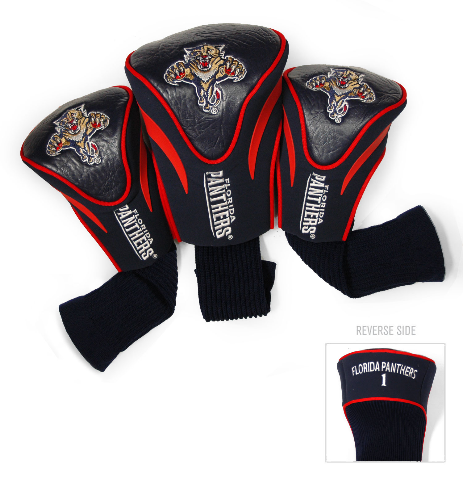 Florida Panthers 3 Pack Golf Contour Sock Headcovers