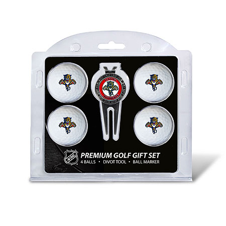 Florida Panthers 4 Golf Ball and Divot Tool Gift Set