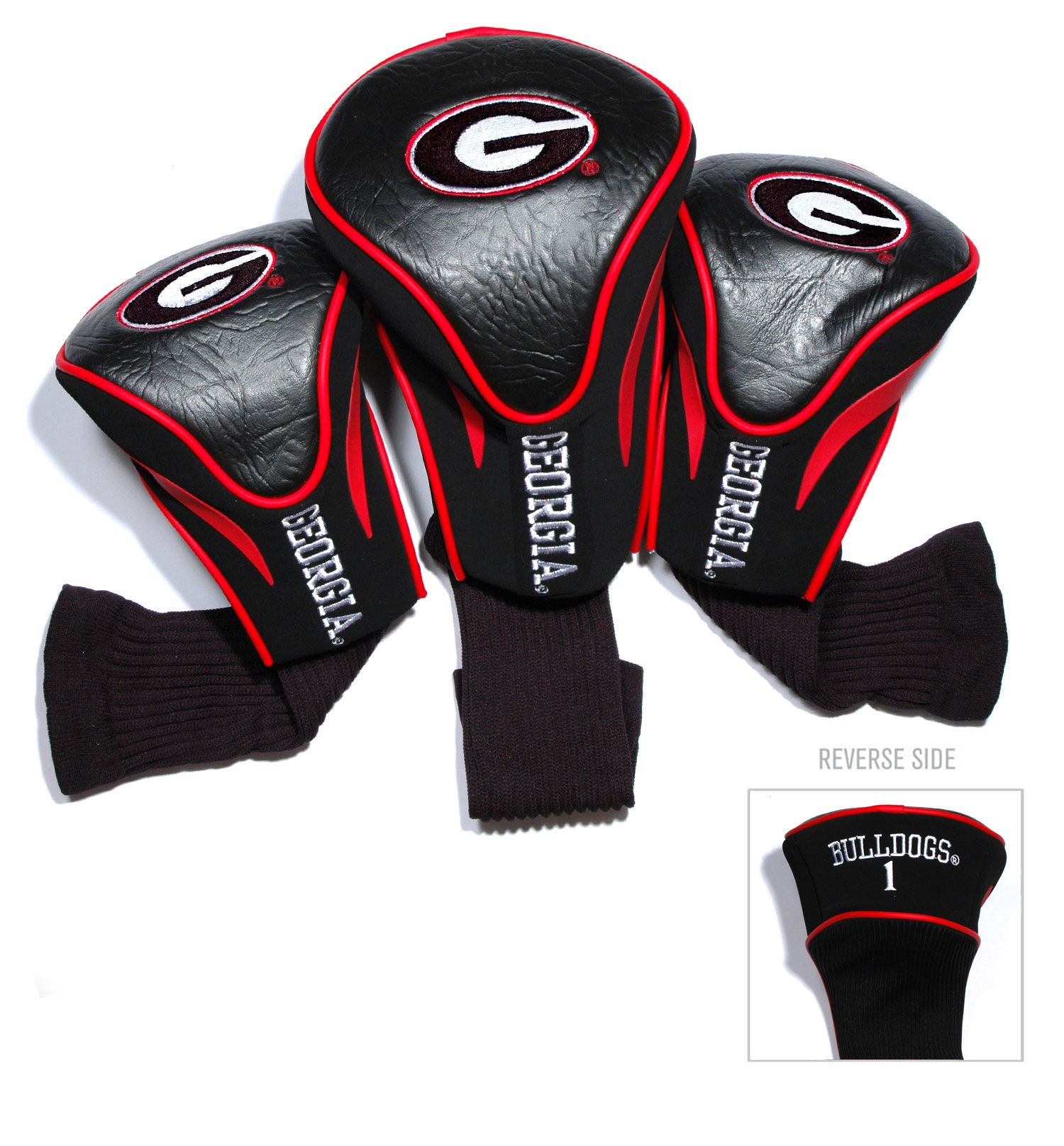 Georgia Bulldogs 3 Pk Golf Contour Sock Head Covers