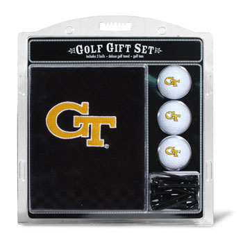 Georgia Tech Yellow Jackets Embroidered Towel, Ball and Tee Gift Set