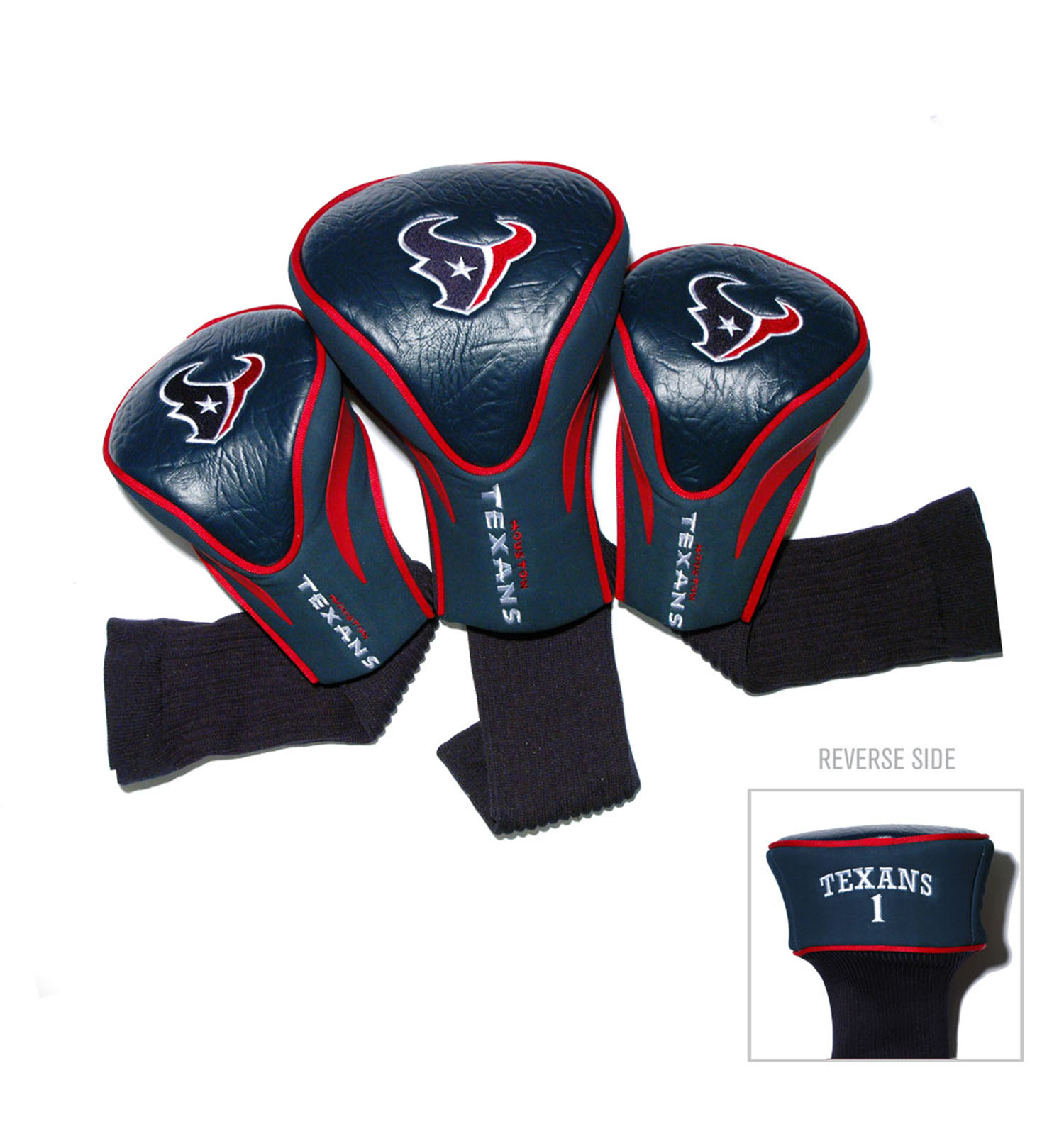Houston Texans 3 Pack Golf Contour Sock Head Covers