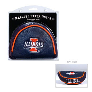 Illinois Fighting Illini Golf Mallet Putter Cover