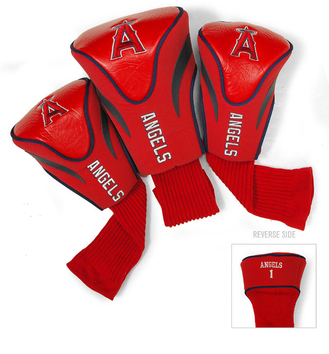 Los Angeles Angels 3 Pk Golf Contour Sock Headcovers