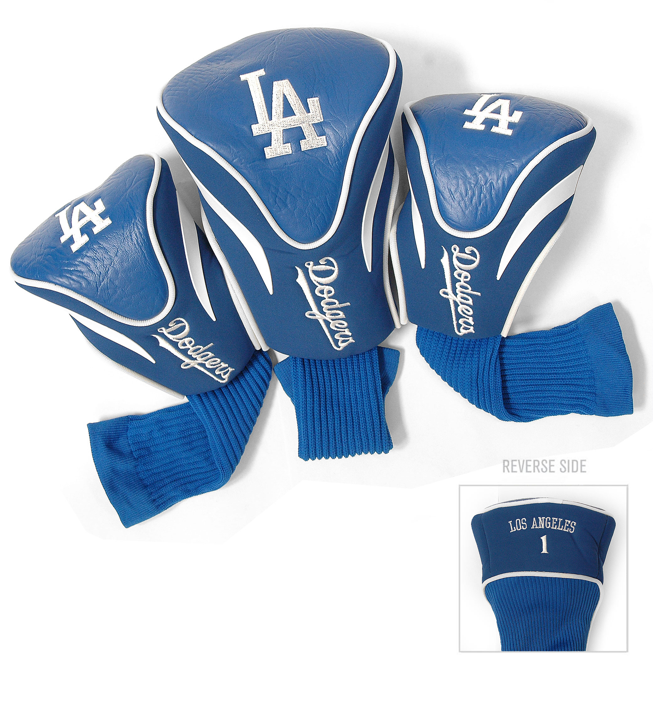 Los Angeles Dodgers 3 Pk Golf Contour Sock Headcovers