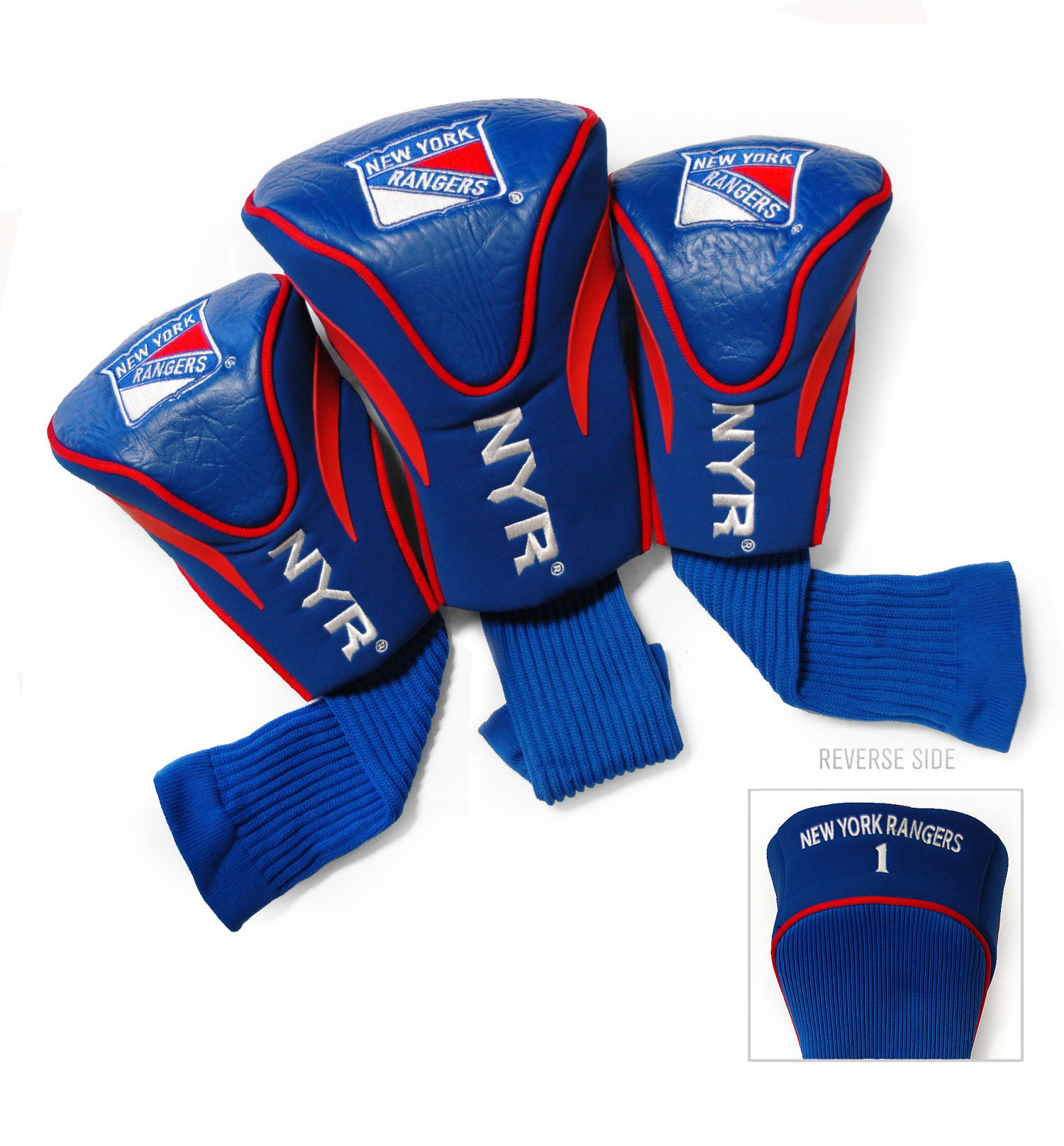 New York Rangers 3 Pack Golf Contour Sock Headcovers