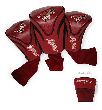Arizona Coyotes 3 Pack Golf Contour Sock Headcovers