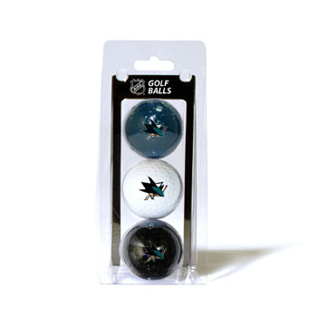 San Jose Sharks 3 Golf Ball Sleeve