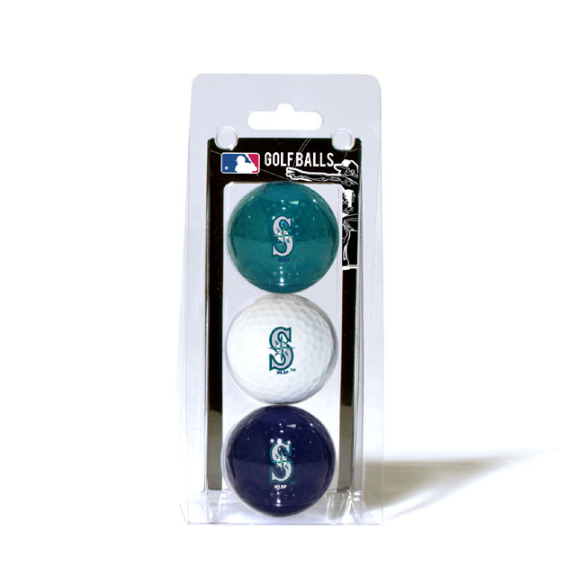 Seattle Mariners 3 Golf Ball Pack
