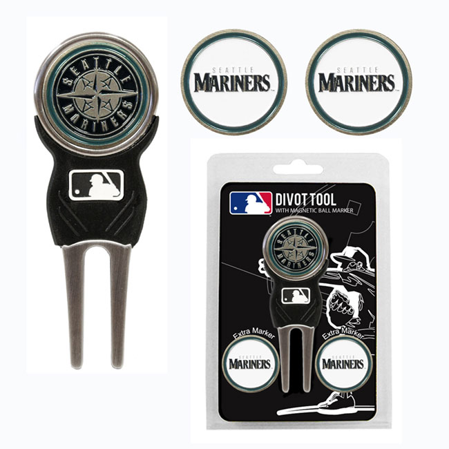 Seattle Mariners Golf Divot Tool Pack