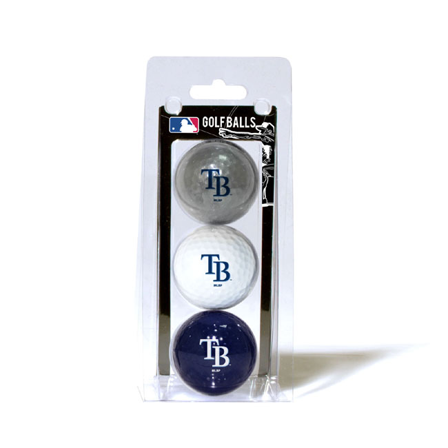 Tampa Bay Rays 3 Golf Ball Pack