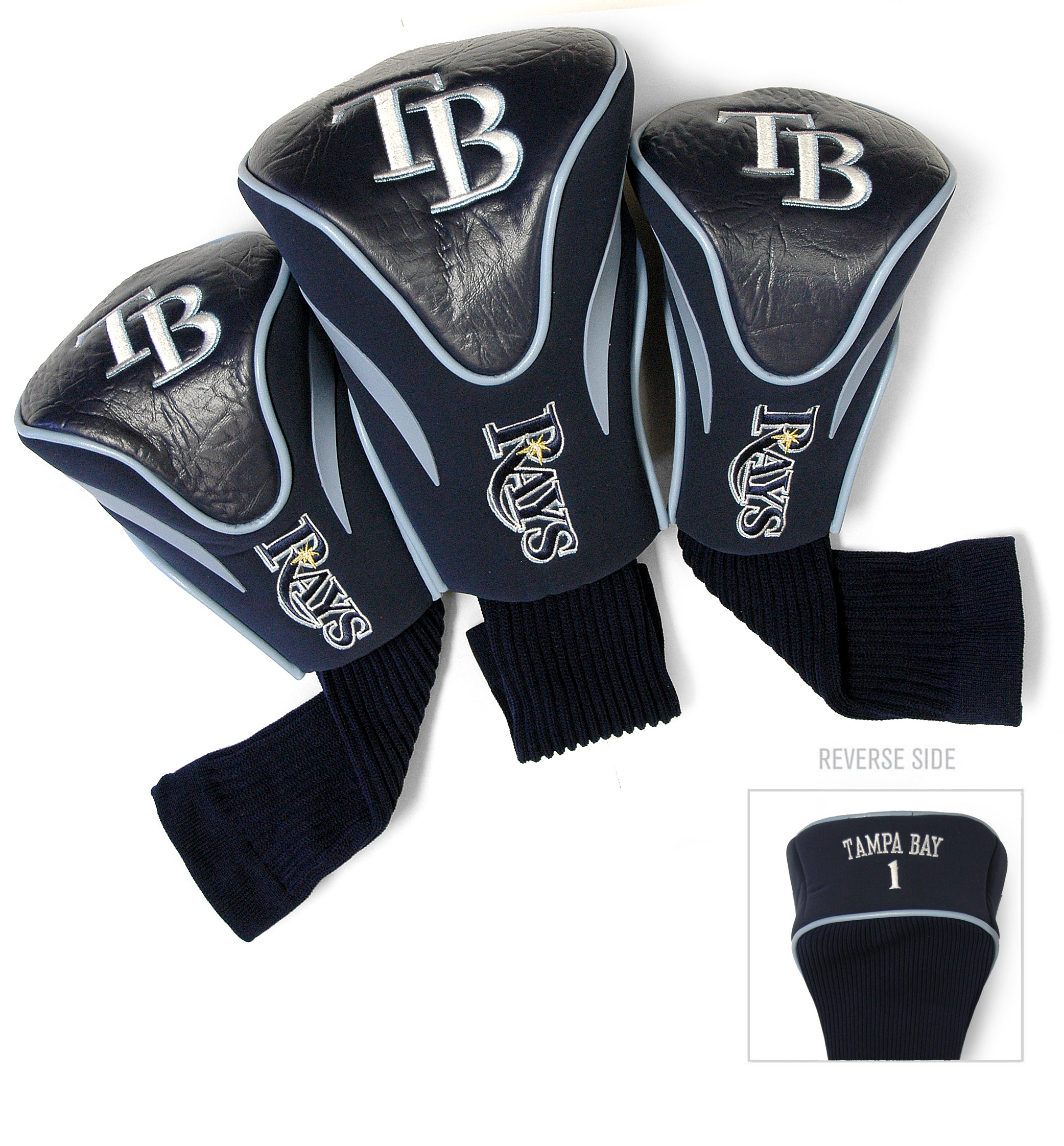 Tampa Bay Rays 3 Pk Golf Contour Sock Headcovers