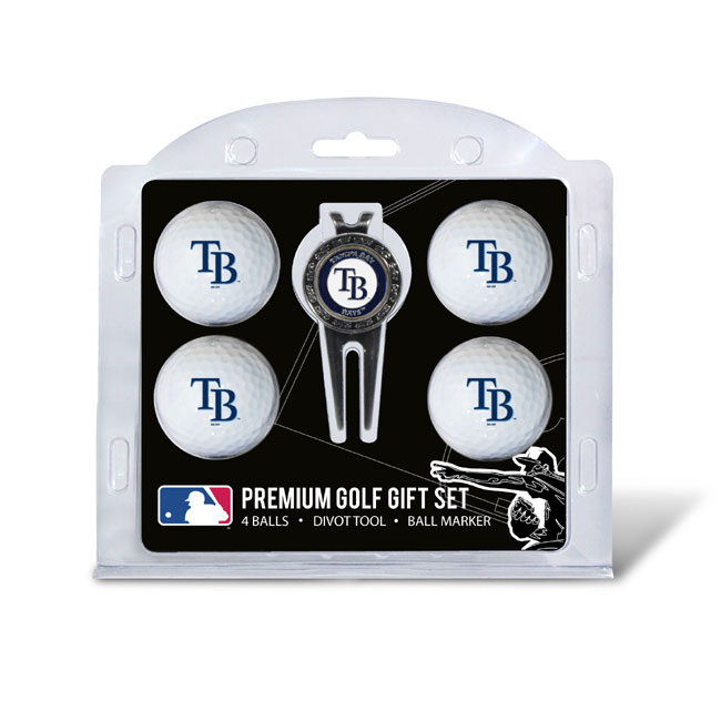 Tampa Bay Rays Golf 4 Ball - Divot Tool Gift Set