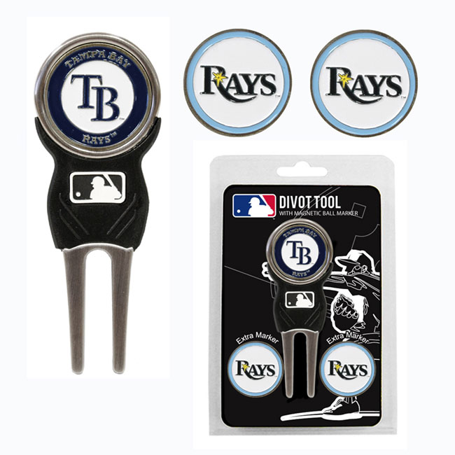 Tampa Bay Rays Golf Divot Tool Pack