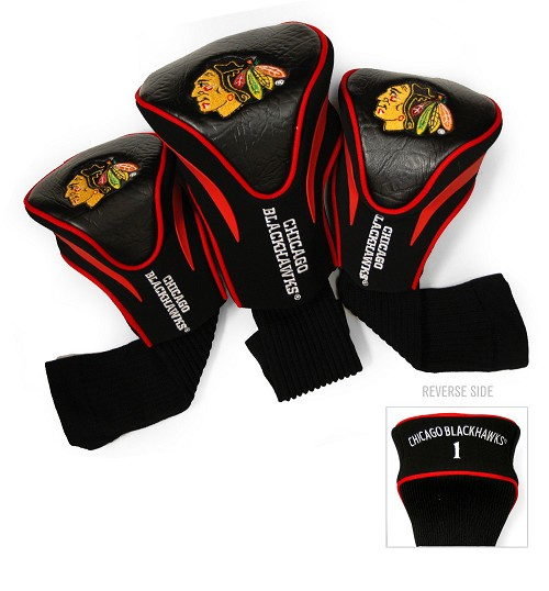 Chicago Blackhawks 3 Pack Golf Contour Sock Headcovers