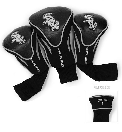 Chicago White Sox 3 Pk Golf Contour Sock Headcovers