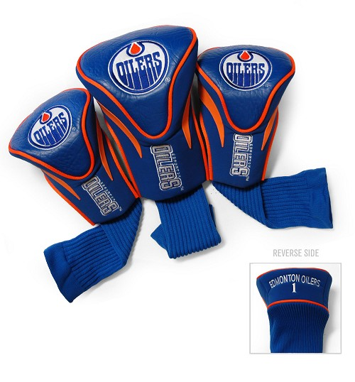 Edmonton Oilers 3 Pack Golf Contour Sock Headcovers