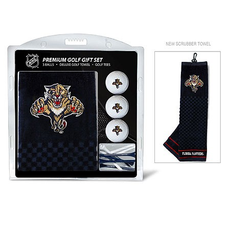 Florida Panthers Embroidered Golf Towel, Golf Ball and Tee Gift Set
