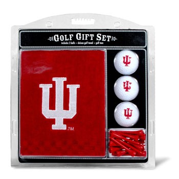 Indiana Hoosiers Embroidered Towel, Ball and Tee Gift Set